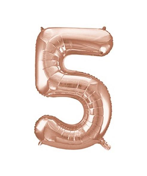 Rose Gold No5 Balloon