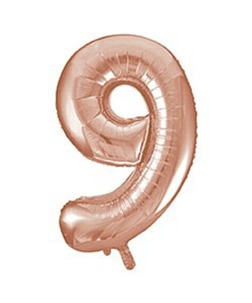 Rose Gold Number 9 Balloon