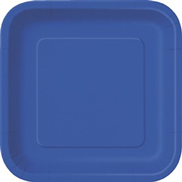 Royal Blue Square Plates