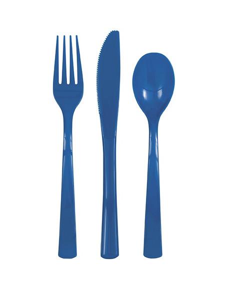 Royal Blue Plastic Cutlery
