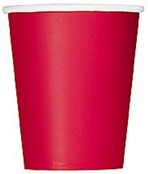 Ruby Red Paper Cups
