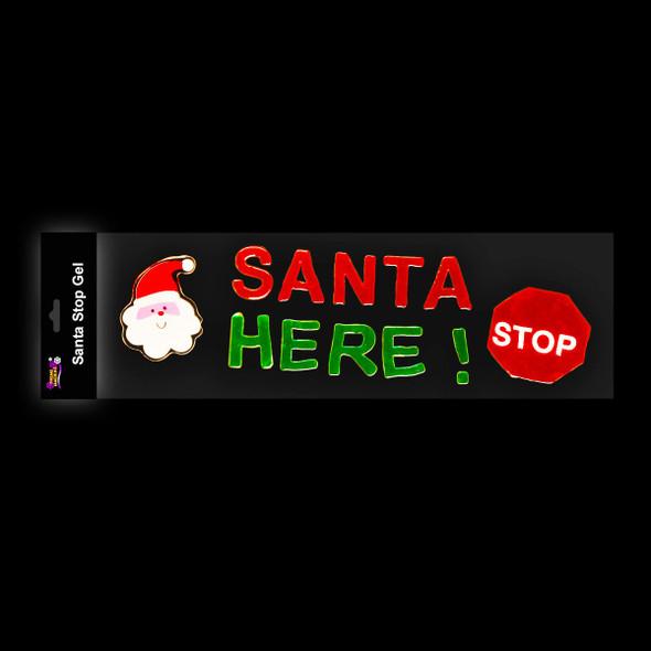 Santa Stop Gel Stickers