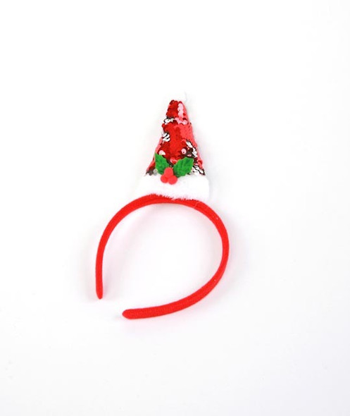 Sequin Mini Santa Hat Headband