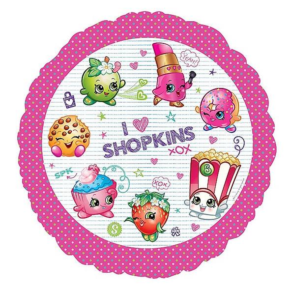 Shopkins Foil Balloon