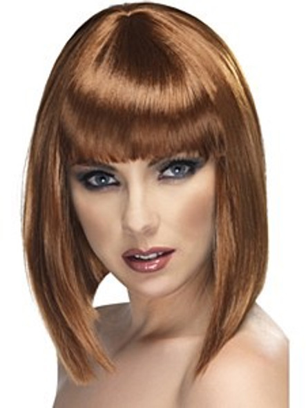 Short Glam Brown Wig