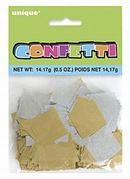 Silver & Gold Tissue Confetti