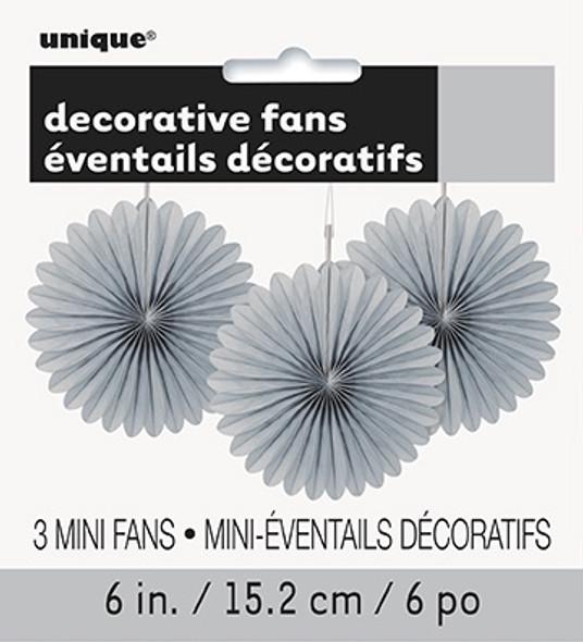 Silver Mini Fan Decortaions