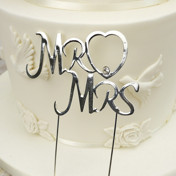 Silver Mr & Mrs Topper