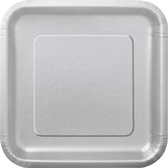 Silver Square Paper Plates