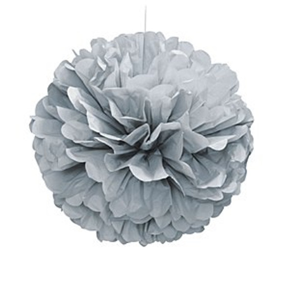 Silver Puff Ball Decoration