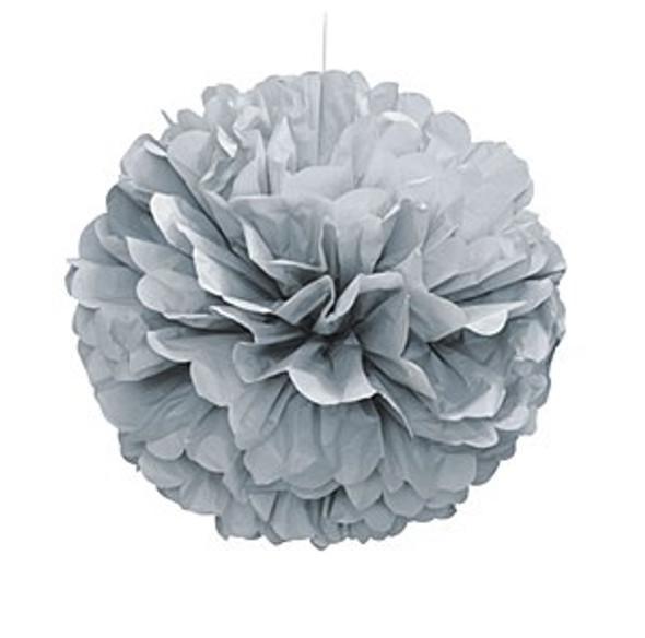 Silver Puff Ball Decoration