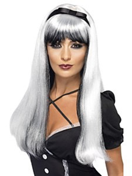 Silver With Black Wig
