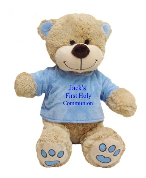 Boys Personalised Communion Teddy