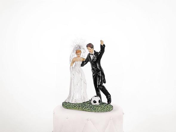 Soccer Wedding Cake Topper