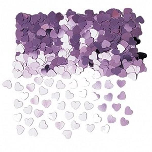 Sparkle Pink Heart Confetti