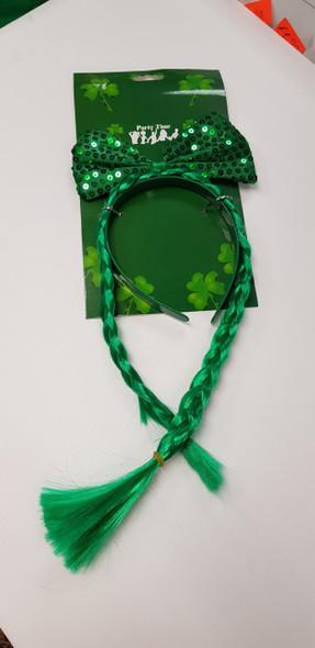 St Patricks Bow Headband