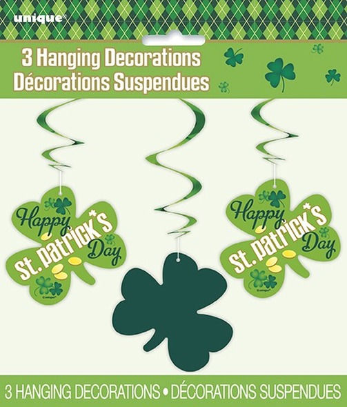 St Pats Swirl Decorations
