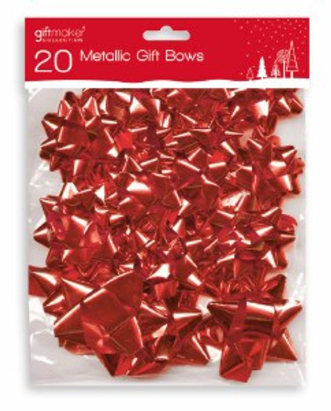 20 Pack Of Red Bows