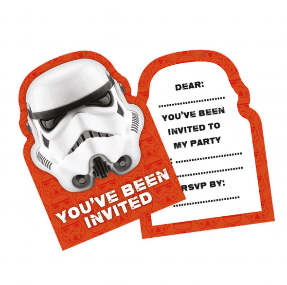 Stormtrooper Party Invitations