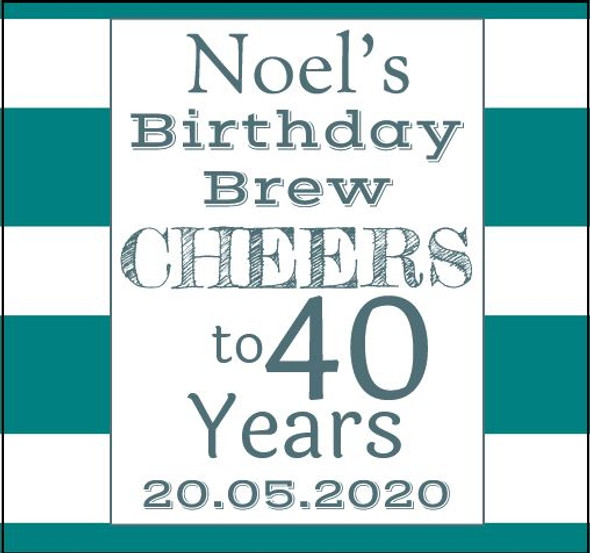 6PK Birthday Man Beer Labels