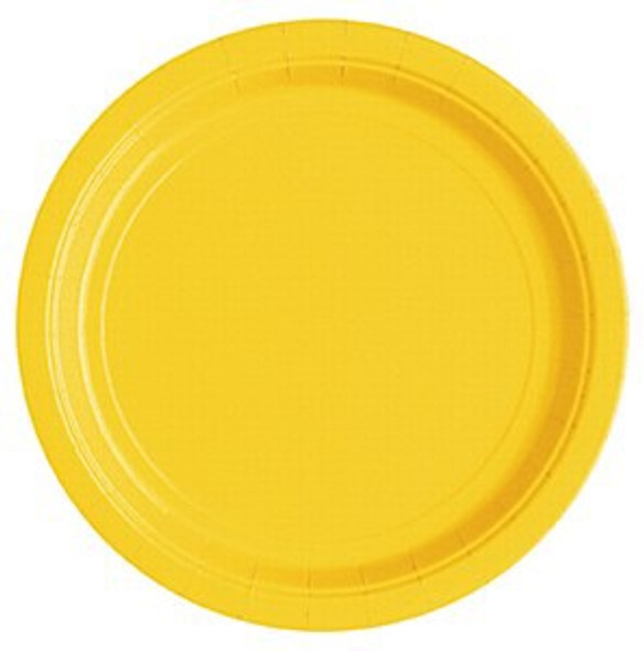 Sunflower Yellow Paper Plates