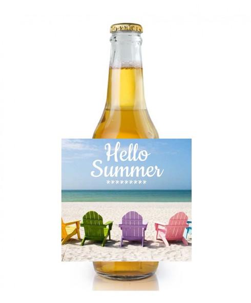 6PK Hello Summer Beer Labels