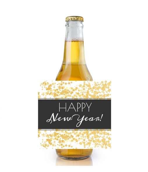 6PK New Years Beer Labels