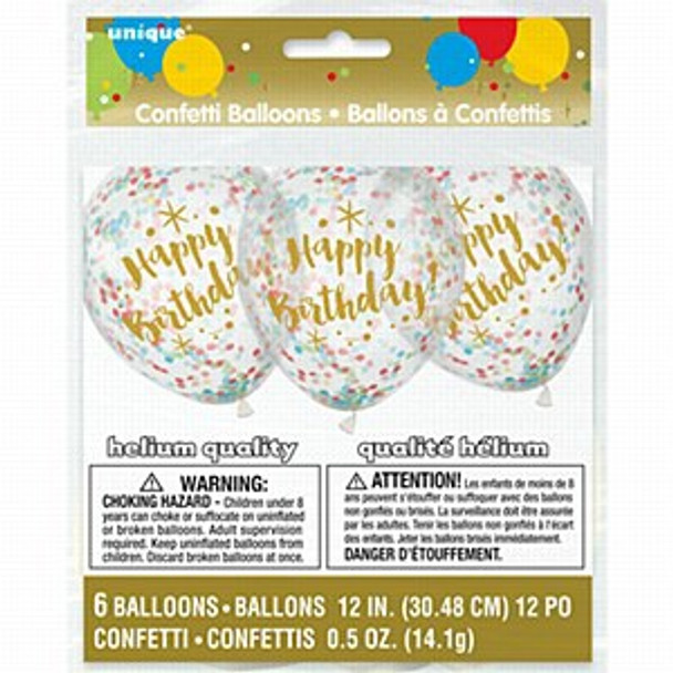 Birthday Party Confetti Balloons