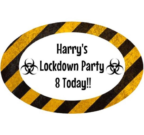 8PK Lockdown Birthday Lablels