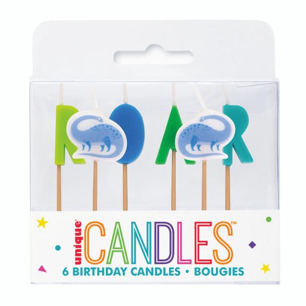 Dinosaur Birthday Candles