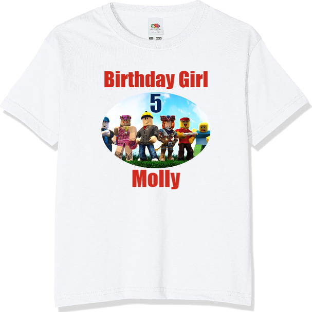 Personalised Roblox T-shirt