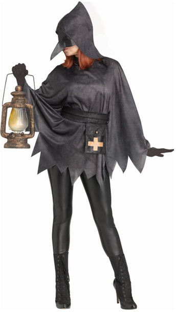Womens Plague Doctor Poncho Costume