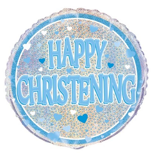 Happy Christening Foil Balloon