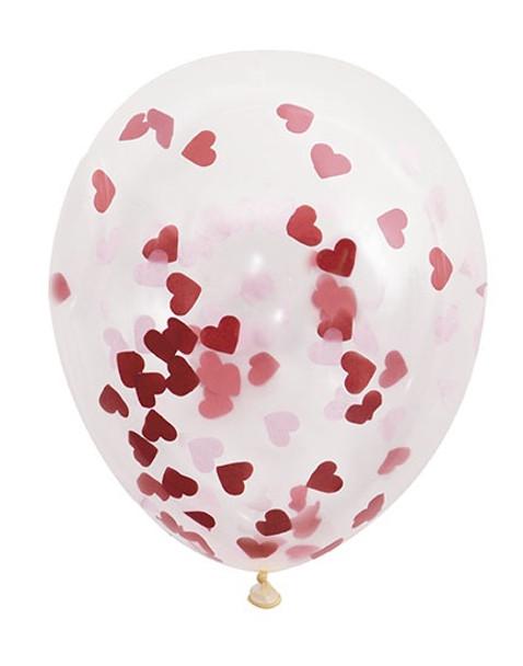 Heart Confetti Balloons