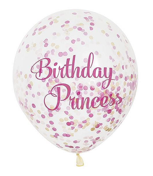 Pink Princess Confetti Balloon