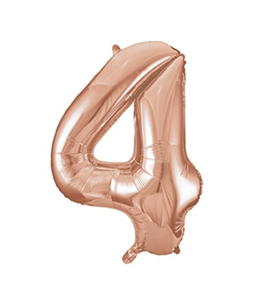 Rose Gold Number 4 Balloon