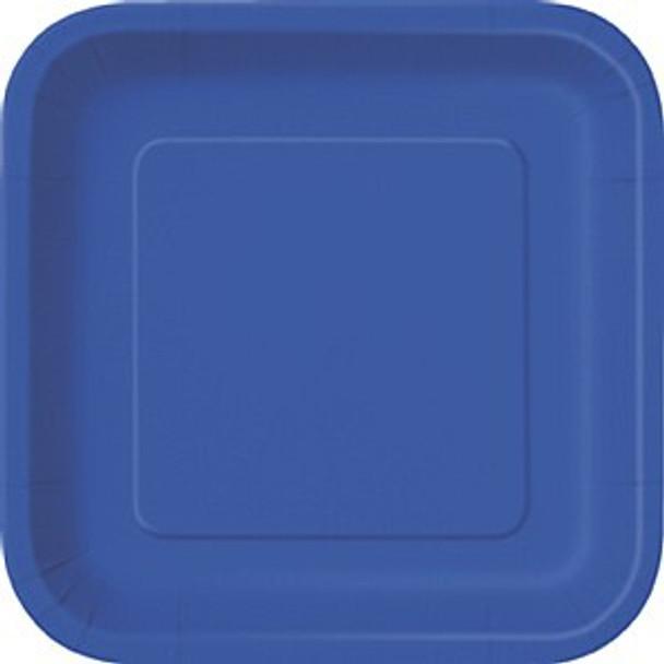 Royal Blue Square Plates