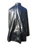 Rear view of rubberized rain cape