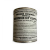 Current label on stock of Essence of Coffee cans in stock