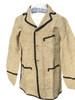 Sack coat with tape trim