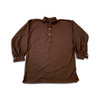 Dark brown wool flannel shirt