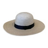 Round crown oak colored palm hat