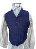 Fold down collar vest