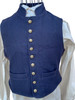 Standing collar military style vest