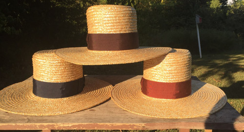 Straw Hat - Men's mid-19th century style