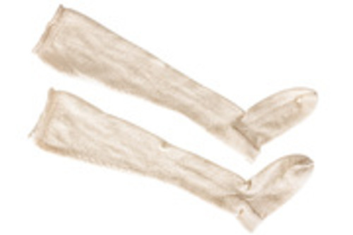 18th century hand knit stockings - 2 play natural white