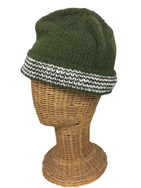 Green with black/white stripes