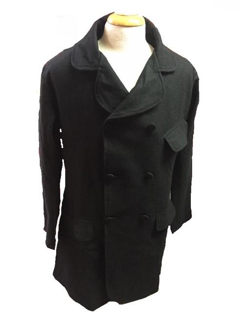 Black wool paletot