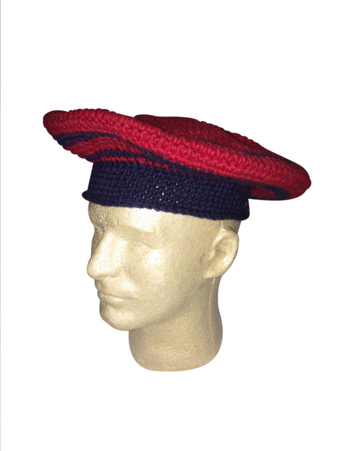 """Hand knit camp hat or """"tam"""""""