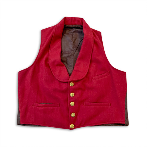 Single breasted shawl collar vest